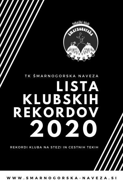 Lista klubskih rekordov 2020 Knjižica